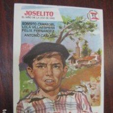 Cine: EL RUISEÑOR DE LAS CUMBRES - FOLLETO MANO ORIGINAL - JOSELITO ANTONIO DEL AMO JANO SUEVIA. Lote 211698981