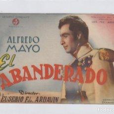 Cine: EL ABANDERADO. FOLLETO DE MANO. DOBLE CON PUBLICIDAD.CINE MUNICIPAL. CÁDIZ.. Lote 211812042