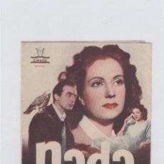Cine: NADA. FOLLETO DE MANO. DOBLE CON PUBLICIDAD. CINE GADES. CÁDIZ.. Lote 211816622