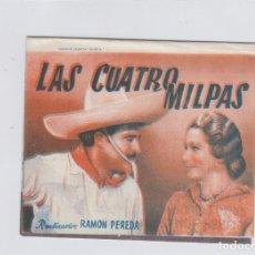 Cine: LAS CUATRO MILPAS. FOLLETO DE MANO. DOBLE CON PUBLICIDAD. CINE MUNICIPAL. CÁDIZ.. Lote 211821442