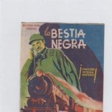 Cine: LA BESTIA NEGRA. FOLLETO DE MANO. DOBLE CON PUBLICIDAD. CINE MUNICIPAL. CÁDIZ.. Lote 211822385