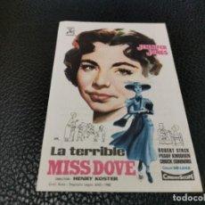 Foglietti di film di film antichi di cinema: PROGRAMA DE MANO ORIG - LA TERRIBLE MISS DOVE - CINE DE ZARAGOZA. Lote 211863365