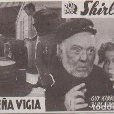 Folhetos de mão de filmes antigos de cinema: PROGRAMA DE CINE: LA PEQUEÑA VIGIA. AÑOS 30. CON PUBLICIDAD EN REVERSO PC-4767. Lote 211873956
