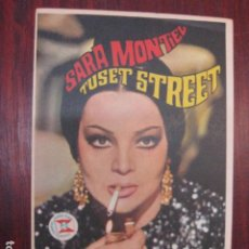 Flyers Publicitaires de films Anciens: TUSET STREET - FOLLETO MANO ORIGINAL - SARA MONTILE PATRICK BAUCHAU LUIS MARQUINA. Lote 211899050