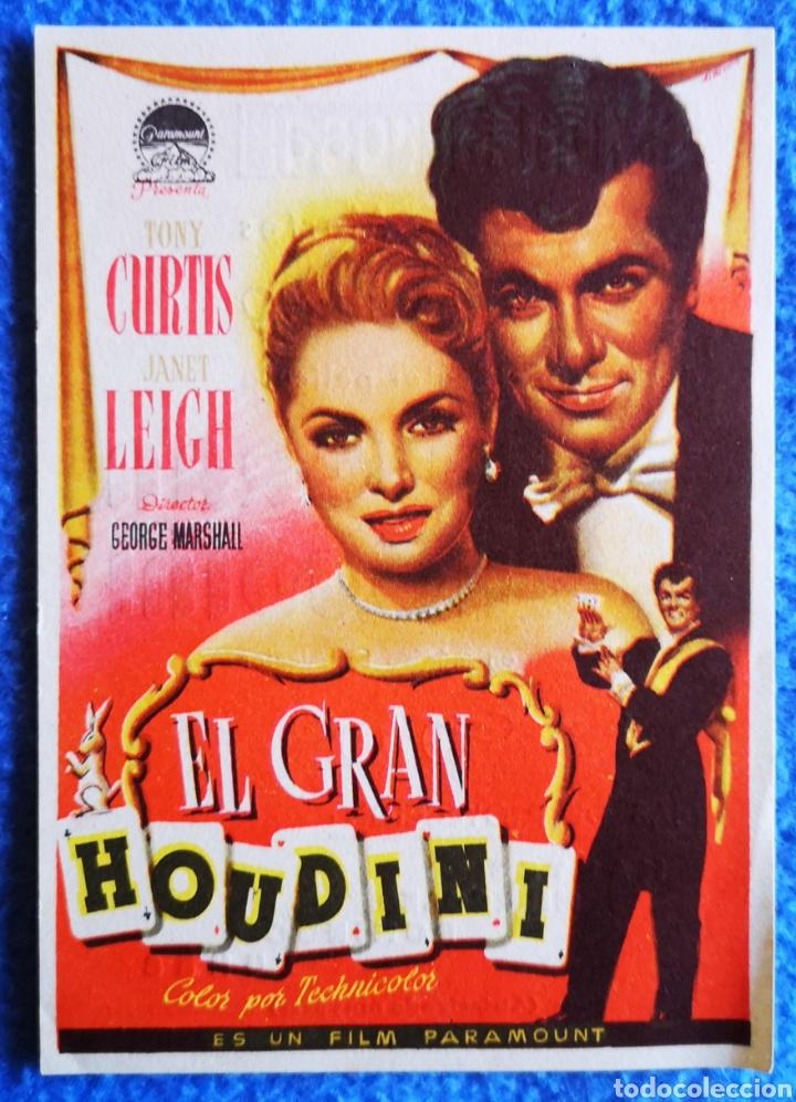 EL GRAN HOUDINI (Cine - Folletos de Mano - Drama)