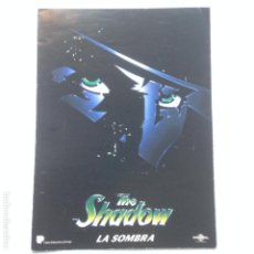 Cine: THE SHADOW - LA SOMBRA - DIPTICO PROMO PELICULA DIN-A4 UNIVERSAL PICTURES. Lote 211921795