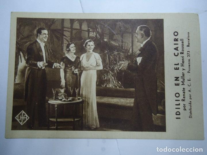 IDILIO EN EL CAIRO VIERNES 18 DE MAYO DE 1934 PUBLICIDAD DEL CINEMA COCA DIRIGIDA POR CLAUDE HEYMANN (Cine - Folletos de Mano - Drama)