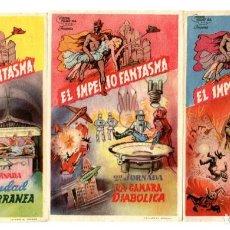 Flyers Publicitaires de films Anciens: EL IMPERIO FANTASMA, CON GENE AUTRY. 3 JORNADAS.. Lote 212285898