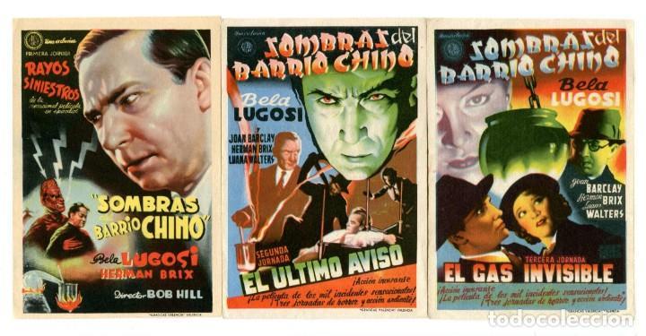 SOMBRAS DEL BARRIO CHINO, CON BELA LUGOSI. 3 JORNADAS. (Cine - Folletos de Mano - Terror)