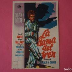 Foglietti di film di film antichi di cinema: FOLLETO DE MANO PROGRAMA DE CINE LA DAMA DEL TREN CON PUBLICIDAD LOTE 63 MIRAR FOTOS. Lote 212347611