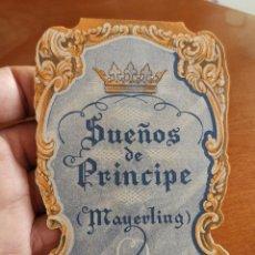 Cine: SUEÑOS DE PRINCIPE (MAYERLING). PROGRAMA DE MANO TROQUELADO DESPLEGABLE.PROVENZA. Lote 212409592