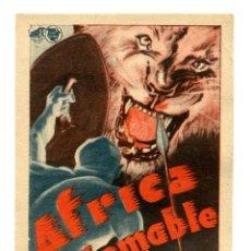 Flyers Publicitaires de films Anciens: ÁFRICA INDOMABLE.. Lote 212428167