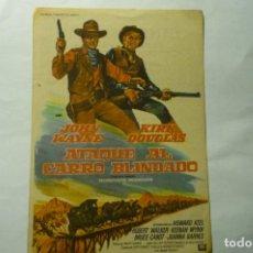 Cine: PROGRAMA ATAQUE AL CARRO BLINDADO-JOHN WAYNE PUBLICIDAD IMPERIO TORREDEMBARRA. Lote 212620278