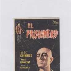 Flyers Publicitaires de films Anciens: EL PRISIONERO. PROGRAMA DE CINE. SENCILLO CON PUBLICIDAD. CINE DORADO. ZARAGOZA.. Lote 212675121