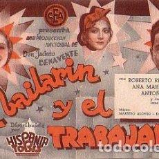 Cine: EL BAILARÍN Y EL TRABAJADOR (CON PUBLICIDAD). Lote 212730195