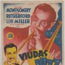 Flyers Publicitaires de films Anciens: PROGRAMA DE CINE: VIUDAS DEL JAZZ. REVERSO IMPRESO PC-4783. Lote 212767746