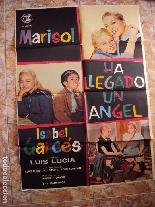 (CINE-77)HA LLEGADO UN ANGEL MARISOL POSTER ORIGINAL (Cine - Folletos de Mano - Clásico Español)