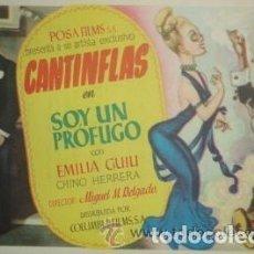 Folhetos de mão de filmes antigos de cinema: CANTINFLAS . SOY UN PROFUGO. Lote 212894901
