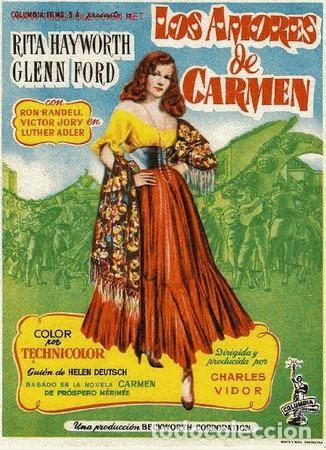 LOS AMORES DE CARMEN (Cine - Folletos de Mano - Musicales)