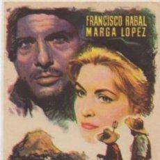 Folhetos de mão de filmes antigos de cinema: PROGRAMA DE CINE: EL HOMBRE DE LA ISLA. SIN PUBLICIDAD PC-4820,2. Lote 213068987