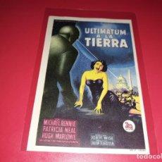 Flyers Publicitaires de films Anciens: ULTIMATUM A LA TIERRA 1951 SIN PUBLICIDAD. Lote 213166851