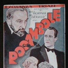 Cine: ROCAMBOLE - PROGRAMA DOBLE DE CINE DE MANO - DIFÍCIL. Lote 213239571