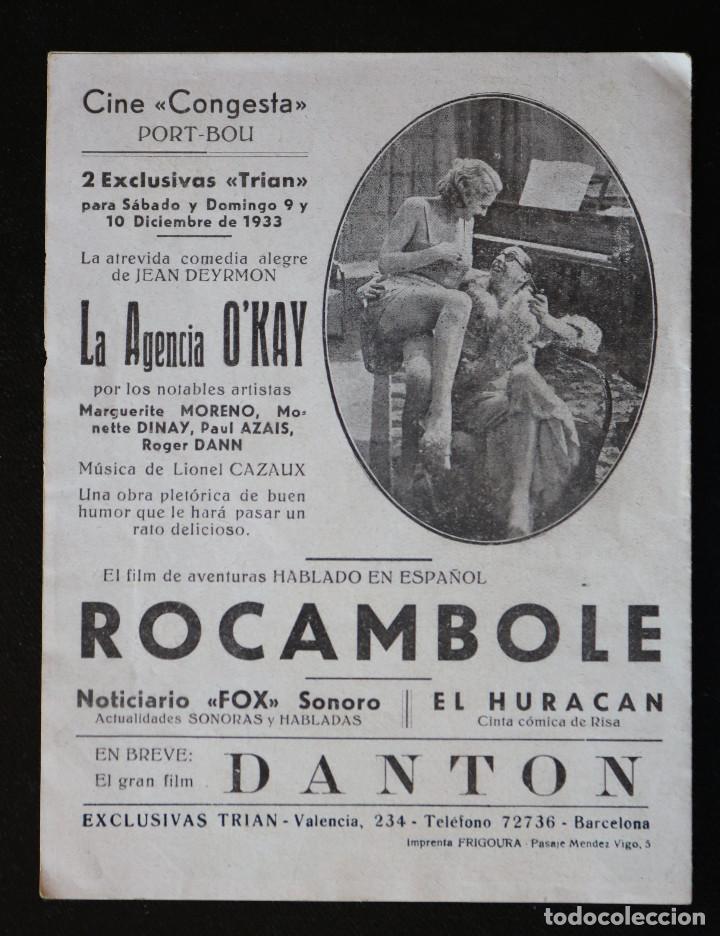 Cine: ROCAMBOLE - PROGRAMA DOBLE DE CINE DE MANO - DIFÍCIL - Foto 2 - 213239571