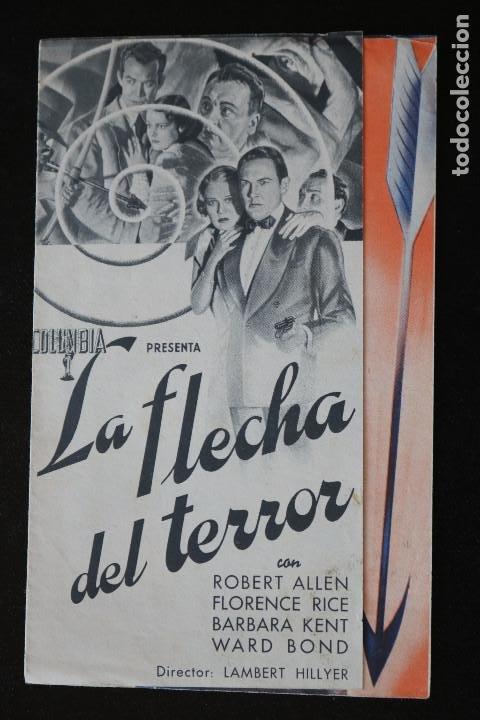 LA FLECHA DEL TERROR - PROGRAMA DOBLE DE CINE DE MANO - DIFÍCIL (Cine - Folletos de Mano - Acción)