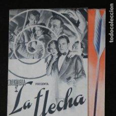 Cine: LA FLECHA DEL TERROR - PROGRAMA DOBLE DE CINE DE MANO - DIFÍCIL. Lote 213239970