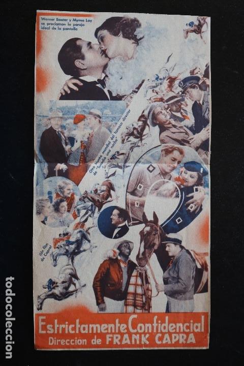 Cine: ESTRICTAMENTE CONFIDENCIAL - PROGRAMA DOBLE DE CINE DE MANO - DIFÍCIL - Foto 3 - 213240923