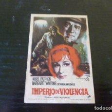 Folhetos de mão de filmes antigos de cinema: PROGRAMA DE CINE IMPRESO EN LA PARTE TRASERA.SOLIGO. Lote 213422578