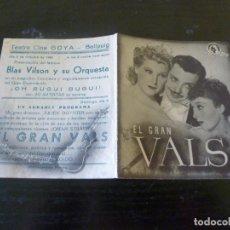 Flyers Publicitaires de films Anciens: PROGRAMA DE CINE IMPRESO EN LA PARTE TRASERA. Lote 213422787