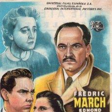 Cine: VIVE HOY PARA MAÑANA -PROGRAMA- ORIGINAL -PUBLICIDAD EN REVERSO- 2 IMAGENES. Lote 213456302