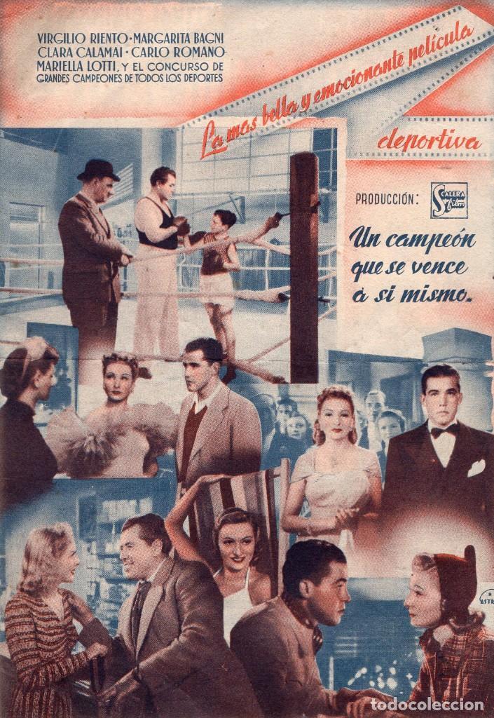 Cine: SU MEJOR VICTORIA -Programa doble- ORIGINAL1947 -PUBLICIDAD EN REVERSO- 2 IMAGENES - Foto 2 - 213460687