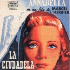 Cine: LA CIUDADELA DEL SILENCIO -PROGRAMA- ORIGINAL -PUBLICIDAD EN REVERSO- 2 IMAGENES. Lote 213462351