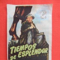 Cine: TIEMPOS DE EXPLENDOR, SENCILLO, DOCUMENTAL, CON PUBLI SALON CINEMA MONTBLANCH. Lote 213466417