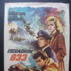 Folhetos de mão de filmes antigos de cinema: ESCUADRÓN 633, CLIFF ROBERTSON. Lote 213495236