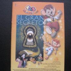 Cine: EL GRAN SECRETO, CUADERNO PARA COLOREAR. Lote 213517396
