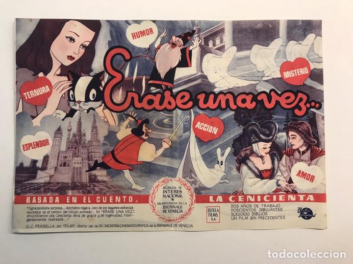 CINE, SUECA VALENCIA. TEATRO SERRANO FOLLETO DE MANO, ÉRASE UNA VEZ. LA CENICIENTA (H.1945?) (Cine - Folletos de Mano - Infantil)