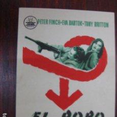 Cine: EL ROBO DEL SIGLO - FOLLETO MANO ORIGINAL - PETER FINCH EVA BARTOK TONY BRITTON CIFESA. Lote 213570140