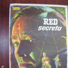 Cine: RED SECRETA - FOLLETO MANO ORIGINAL - HANSJORG FELMY INGE SCHONER MAC IMPRESO. Lote 213571025