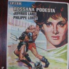 Cine: SOLO CONTRA ROMA - FOLLETO MANO ORIGINAL - ROSSANA PODESTA JEFFRIES LANG PHILIPPE LEROY IMPRESO. Lote 213572123