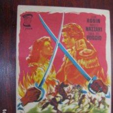Cine: LOS SUBLEVADOS DE LOMANACH - FOLLETO MANO ORIGINAL - DANY ROBIN AMADEO NAZZARI IMPRESO. Lote 213572981