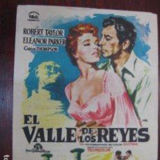 Cine: EL VALLE DE LOS REYES - FOLLETO MANO ORIGINAL - ROBERT TAYLOR ELEANOR PARKER JANO IMPRESO. Lote 213574011