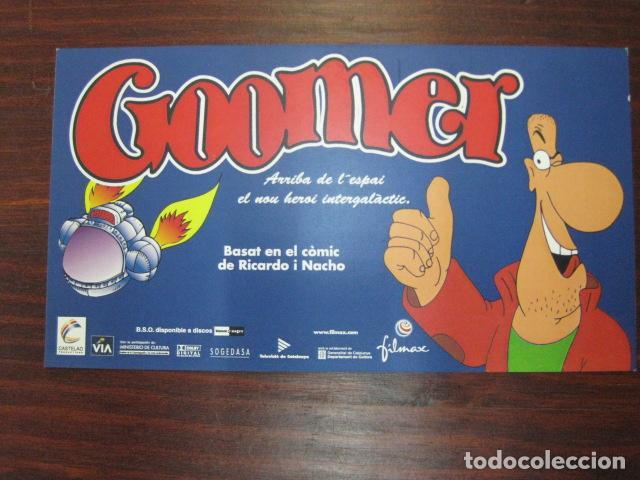 GOOMER - FOLLETO MANO INVITACION PREESTRENO CINE PUBLI ANIMACION EN CATALAN (Cine - Folletos de Mano - Infantil)