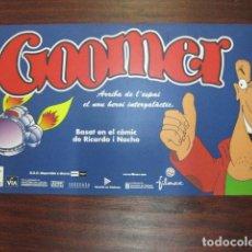 Cine: GOOMER - FOLLETO MANO INVITACION PREESTRENO CINE PUBLI ANIMACION EN CATALAN. Lote 213645323