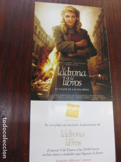LA LADRONA DE LIBROS - FOLLETO MANO INVITACION PREESTRENO - SOPHIE NELISSE PUBLICIDAD FNAC (Cine - Folletos de Mano - Drama)
