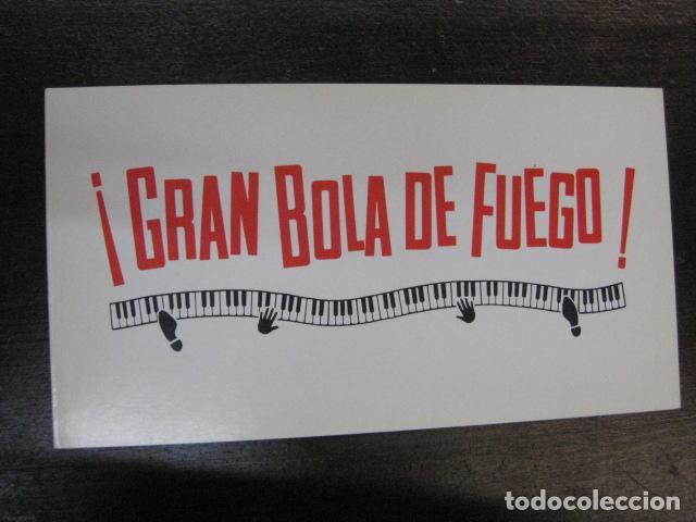 Cine: gran bola de fuego - folleto mano original invitacion preestreno cine aribau lauren films - Foto 2 - 213657623