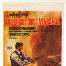 Cine: LOS LARGOS DIAS DE LA VENGANZA. Lote 213703632
