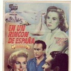 Cine: EN UN RINCON DE ESPAÑA. Lote 213705308